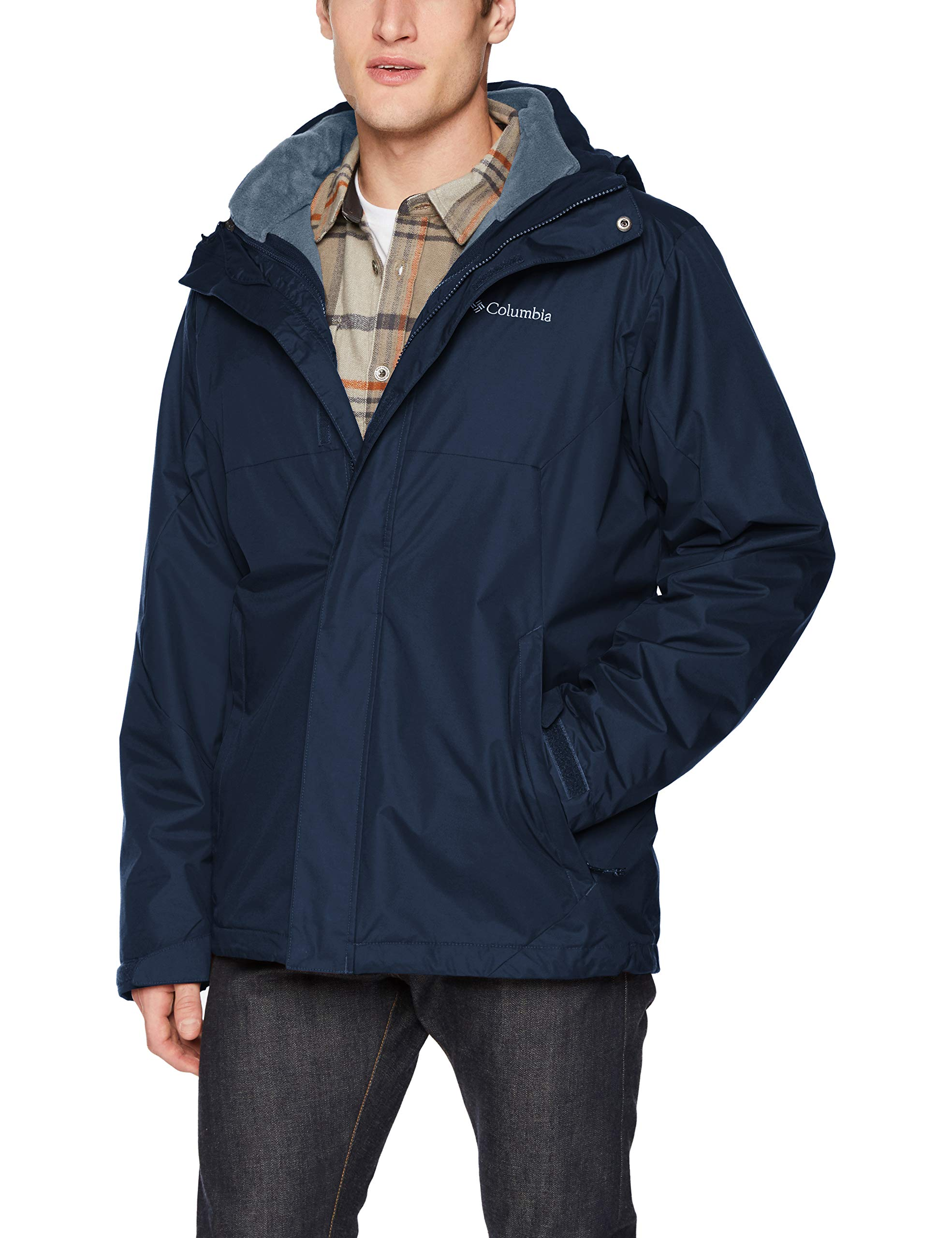 Columbia Men's Eager Air Interchange Jacket, Collegiate Navy, Small by Columbia