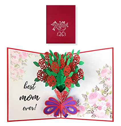 Rose Flower Pop Up Card