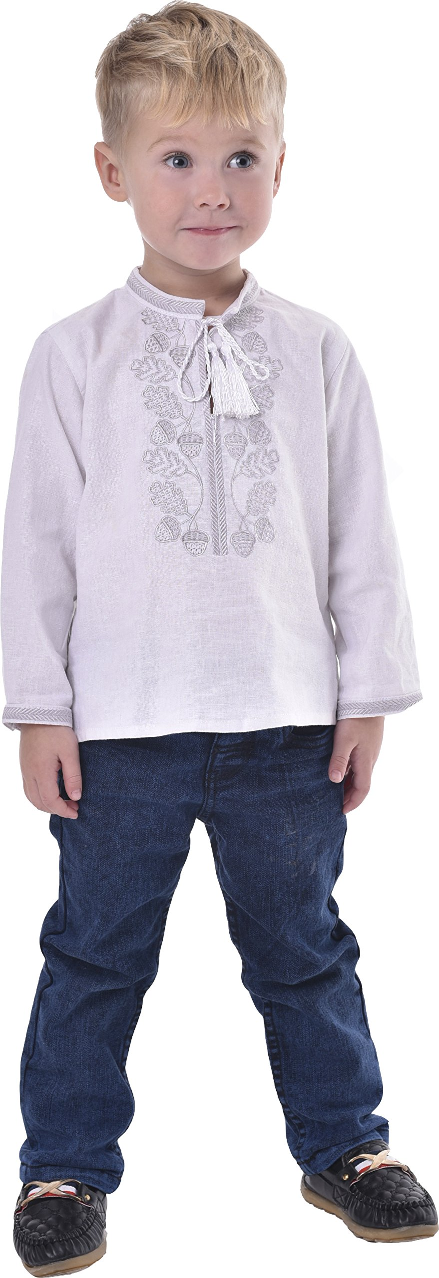 Boys Shirts With Embroidery. Ukrainian Vyshyvanka. Children's Traditional Ukrainian Shirts With Collar For Boys. (2-2.5 Years)