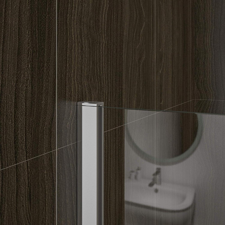 AICA paroi de douche 160cm en 8mm verre anticalcaire hauteur:200cm douche italienne
