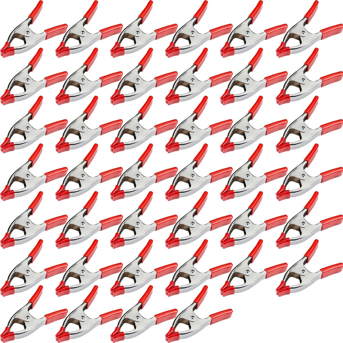 40 pcs. 2'' Inch Spring Metal Clamps wholesale Bulk - Red