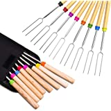Marshmallow Roasting Stick, Splaks Marshmallow 8 Roasting Sticks 32 Inch Telescoping Extendable Roasting Sticks for BBQ…