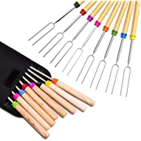 Marshmallow Roasting Stick, Splaks Marshmallow 8 Roasting Sticks 32 Inch Telescoping Extendable Roasting Sticks for BBQ…