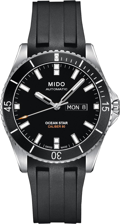 Mido Ocean Star Captain V M026.430.17.051.00 Black Black Rubber Analog Automatic Men s Watch