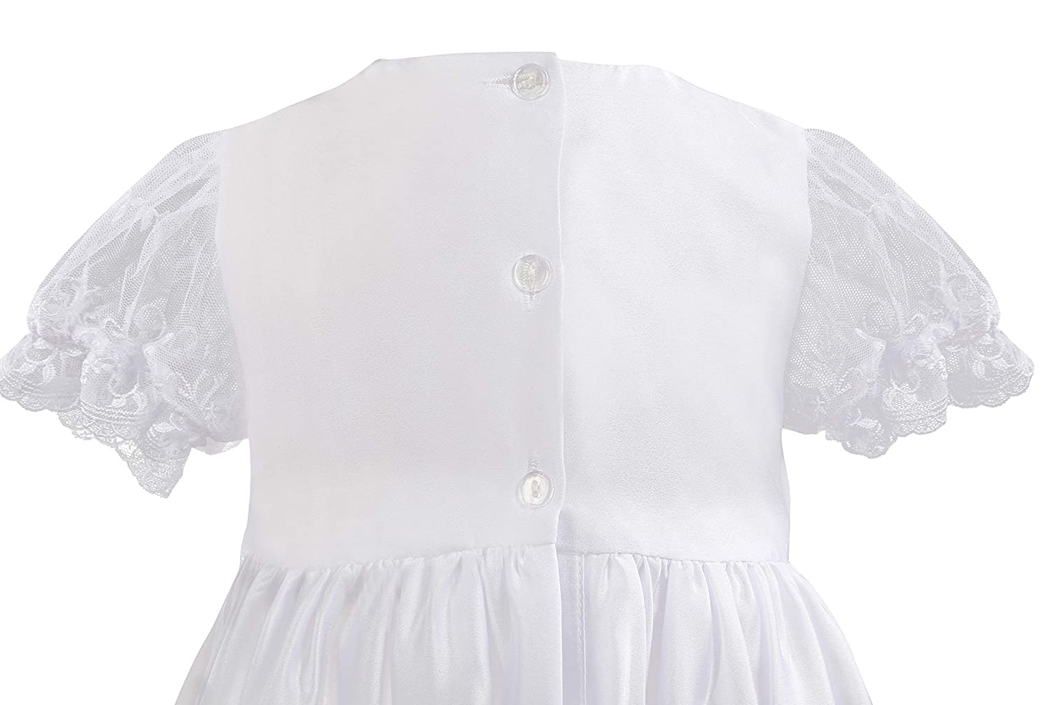 NIMBLE Baby Girls Baptism Christening Embroidered Gown with Headband for 0-12 Months
