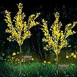 Neporal Solar Garden Lights Outdoor Decorative, Solar Flowers Lights Dusk to Dawn, Solar Garden Stake Lights Waterproof IP65,