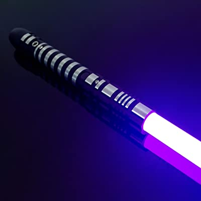 YDD Lightsaber Led Light Metal Aluminum Hilt, Ghost Premium Force FX Black Series Light Saber for Adults, Support Real Heavy Dueling (Purple): Toys & Games