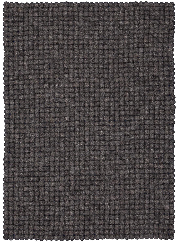 Myfelt Hugo Filzkugelteppich, rechteckig, Schurwolle, anthrazit, 70 x x x 100 cm b8992b
