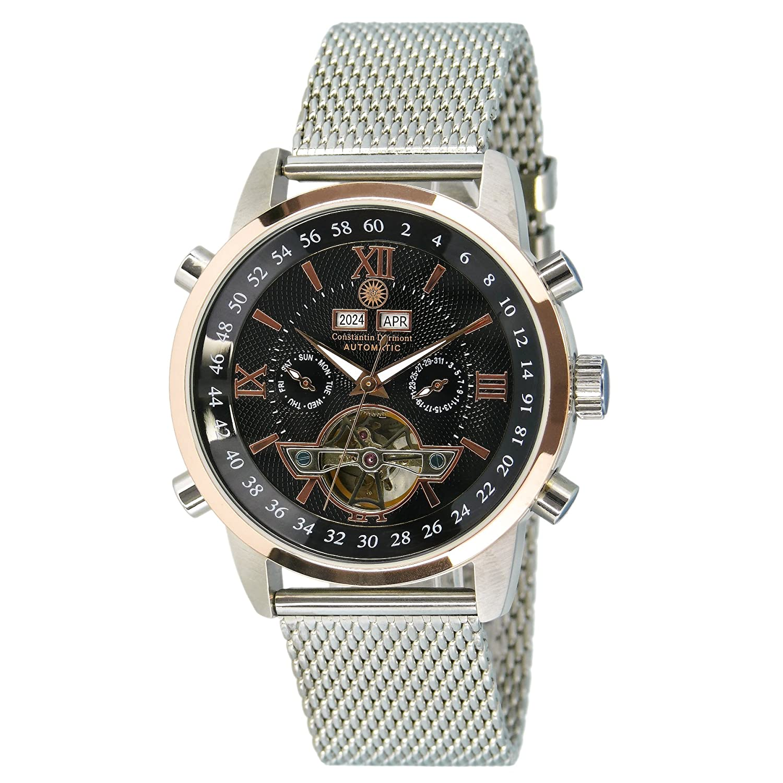Constantin Durmont Reloj analógico para Hombre de automático con Correa en Acero Inoxidable CD-SANJ-AT-STM2-STRG-CR-B
