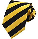 Secdtie Men's Large Striped Jacquard Woven Silk Tie Formal Business Necktie