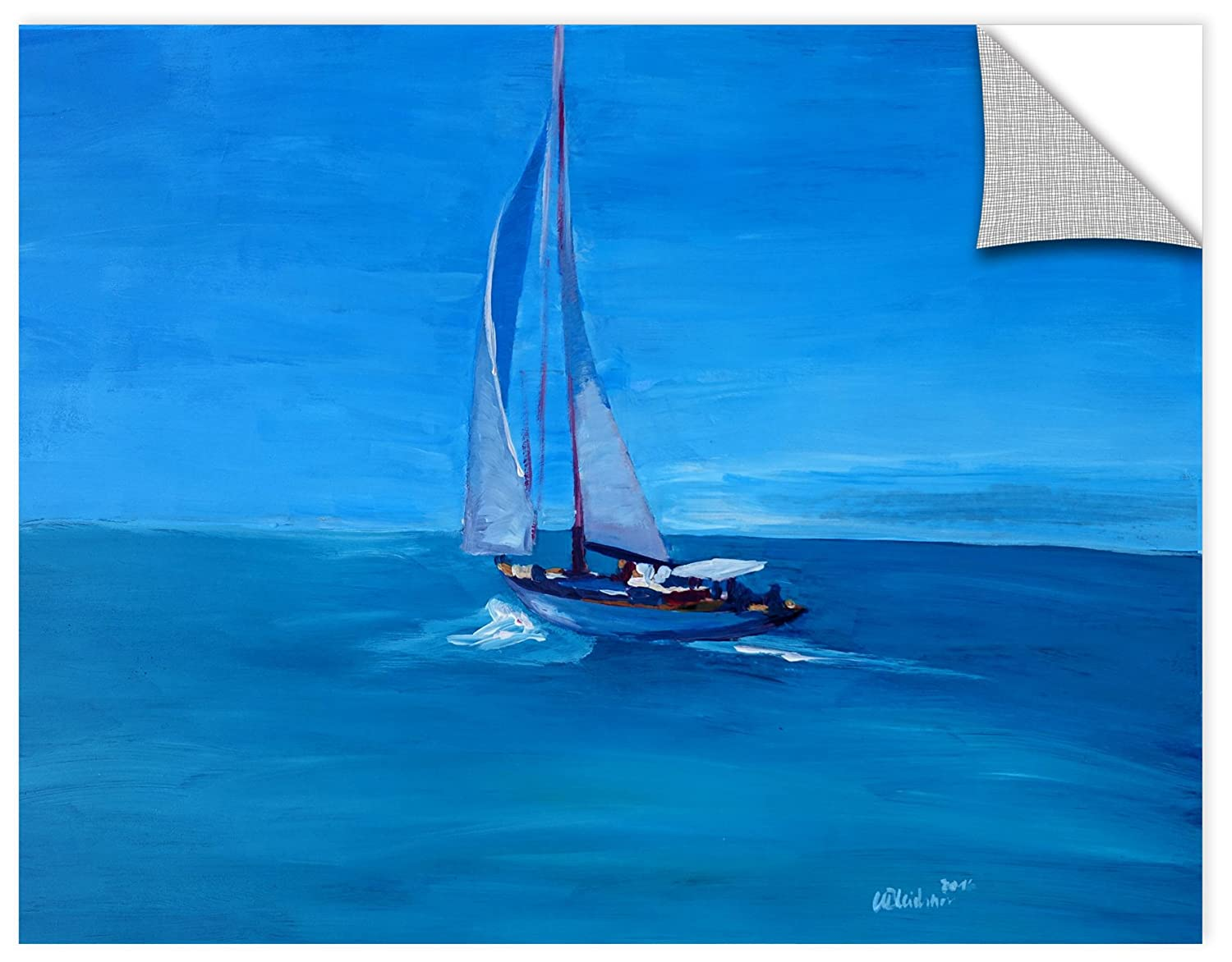 Marcus//Martina Bleichner Sailing Into The Blue Removable Wall Art Mural 18X24