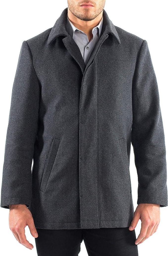 Essentials Wool Blend Heavyweight Car Coat Hombre