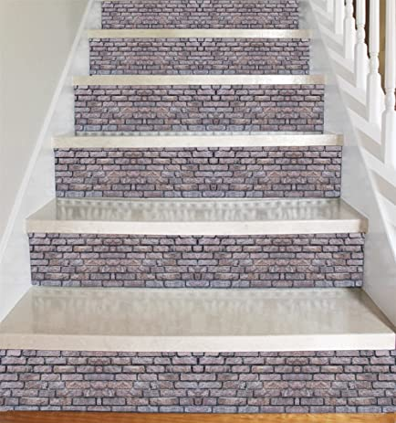 Stone Brick Style Vinyl Decal Strips For Stair Risers/ Wall Borders   Peel  And Stick
