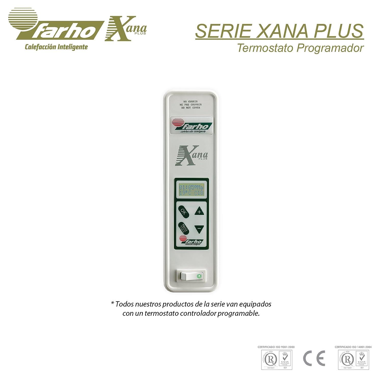 farho Radiadores Eléctricos bajo Consumo XP (Xana Plus) • 1650 W • Digital Programable (7 días / 24 HR) y opción Domotizable • Radiador eléctrico Ideal ...
