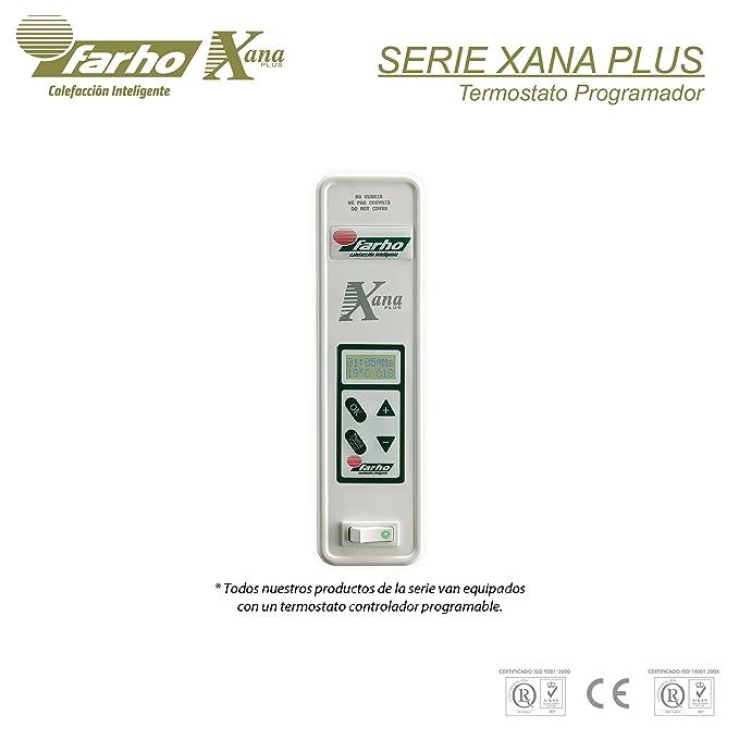 farho XP - Radiador Eléctrico de bajo Consumo 770 W, Digital Programable y opción WiFi - Emisor Térmico Ideal para estancias hasta 11,70 m2-20 AÑOS DE ...