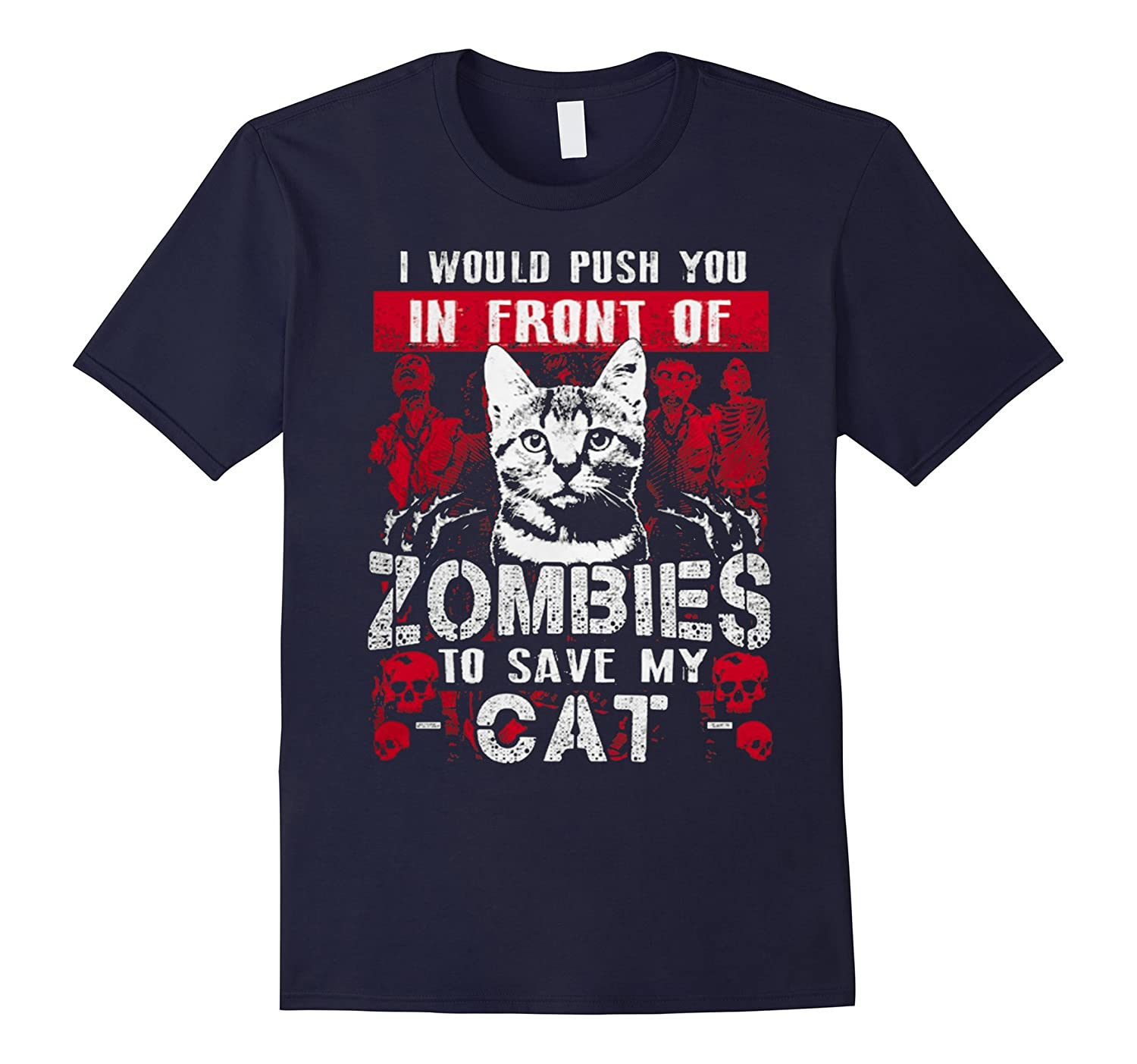 zombies to save my cat shirt-CL