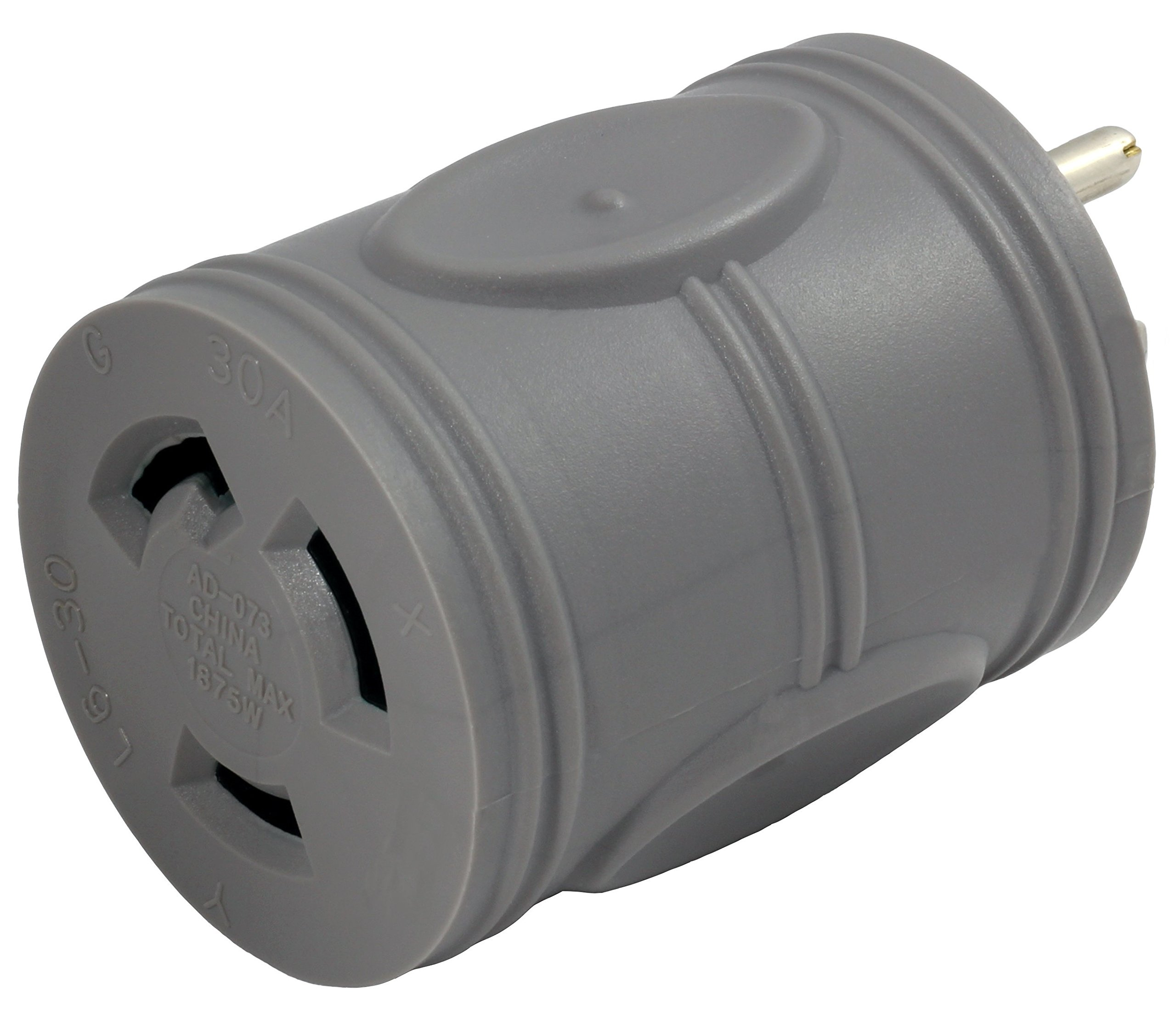 AC WORKS [EV515L630] EVSE Upgrade Electric Vehicle Charging Adapter 15Amp Household Plug to L6-30R Female Connector