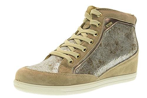 IGI&CO Zapatillas de Deporte de Cuña Interior Zapatos de Mujer 77823/00 Talla 37 Beige