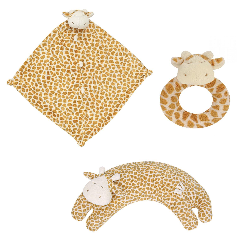 Angel Dear Blankie, Ring Rattle and Curved Pillow Set (Giraffe) by Angel Dear   B00IO47IN6