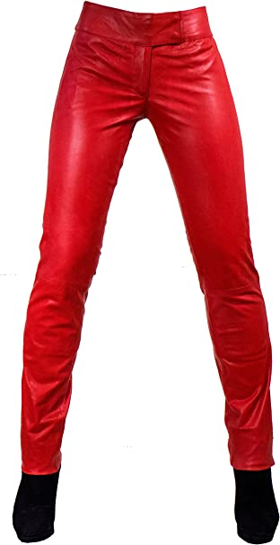 Unbekannt Kathrin Damen Lederhose aus echtem Lamm Nappa Leder