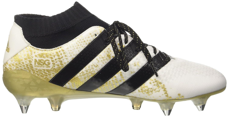 adidas Ace 16.1 Primeknit SG, Chaussures de Football Homme, Bianco (Varios Colores (Blanco (Ftwbla/Negbas/Dormet))), 48 EU