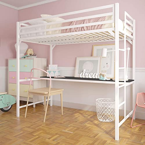 DHP Miles Metal Twin Loft Bed