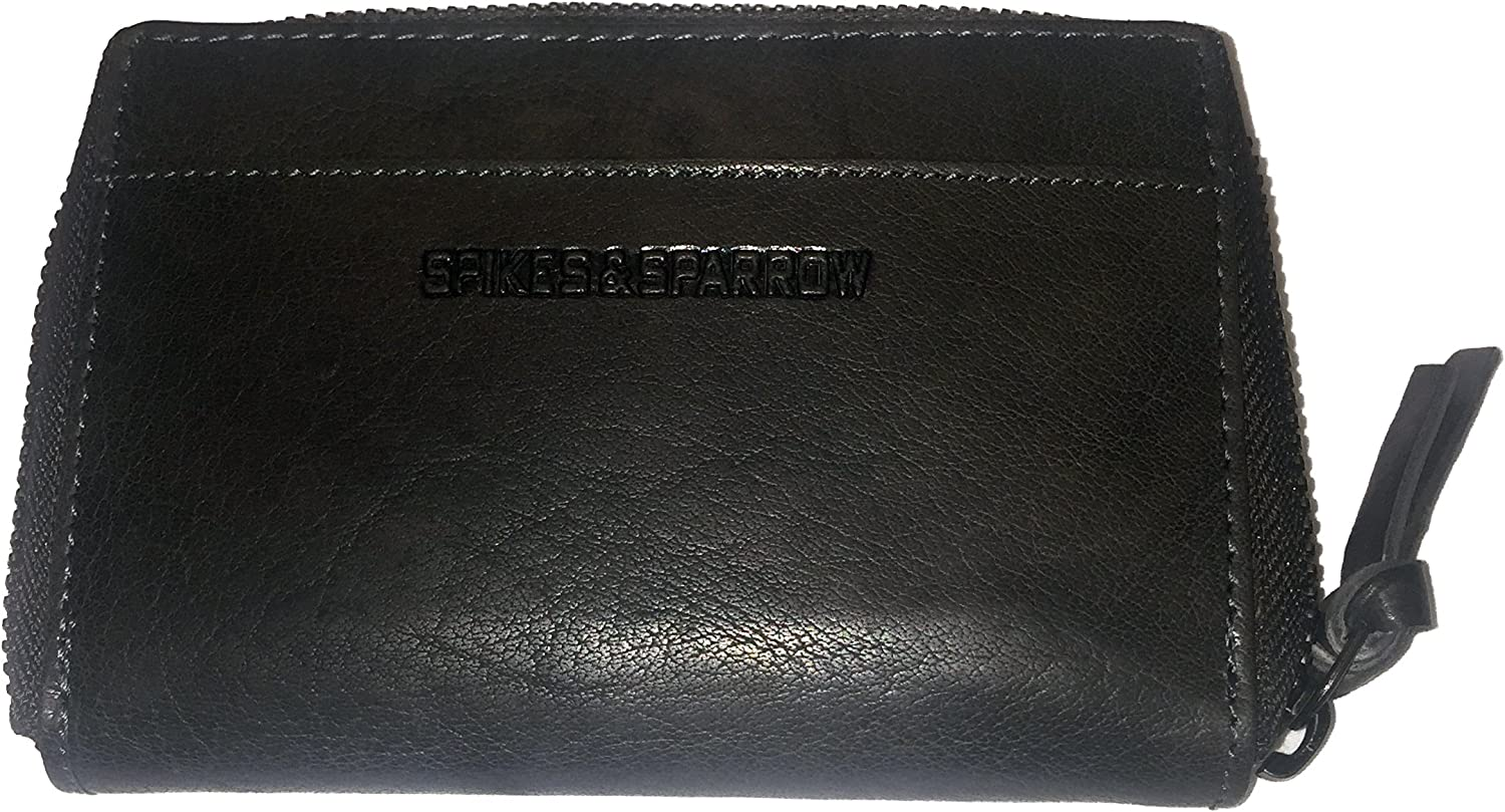 Spikes /& Sparrow Avery East West Ladies Wallet RFID in Dark Brown