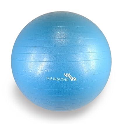 FOURSCOM® Pelota de gimnasia yoga pilates anti-explosión PVC - 75 ...