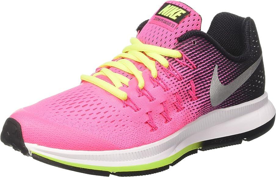 low priced b3e64 9bdc3 Nike Zoom Pegasus 33 (GS) Running Shoe (4 Big Kid M, Pink