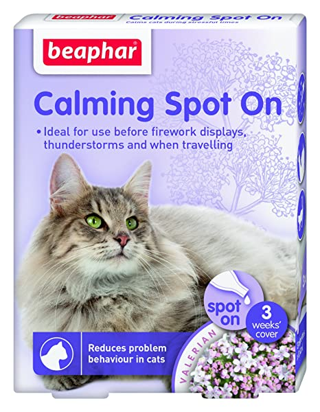 Beaphar Pipetas Calming Spot On para Gatos, 3 Unidades