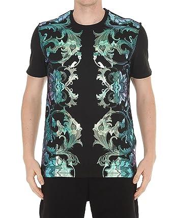 Versace Collection - T-Shirt pour Homme V800683 VJ00504 - Noir, L ... 4f6936a8b75
