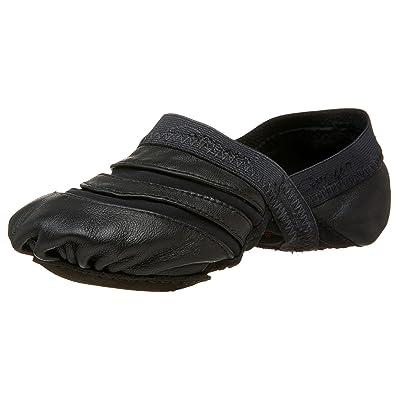 Womens eos Canvas Jazz Shoe,Black,9 W US Capezio