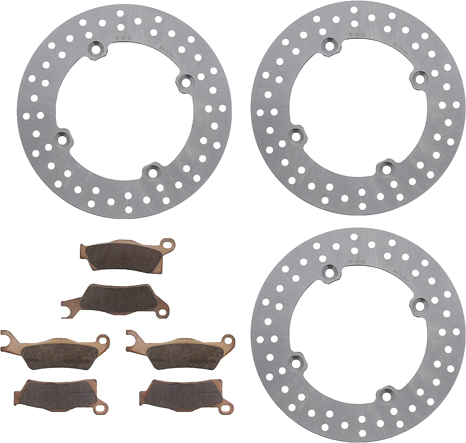 2016 Can-Am Outlander Max XTP 650 Front /& Rear Brake Rotors and Brake Pads