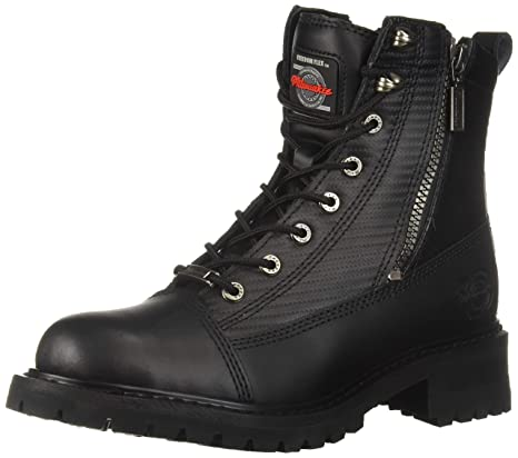 new style favorable price Clearance sale Milwaukee Motorcycle Clothing Company Accelerator Leather Men's Motorcycle  Boots (Black, Size 8.5EE)