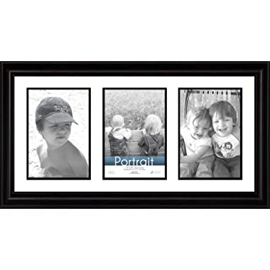 Timeless Frames 10x20 Inch Fits Three 5x7 Inch Photos Lauren Collage Frame, Black