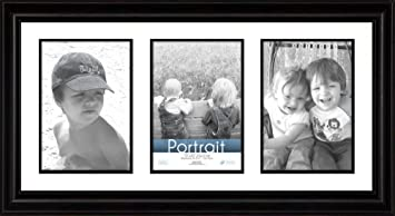 timeless frames 10x20 inch fits three 5x7 inch photos lauren collage frame black