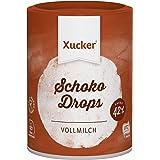 Xucker 200 g Schokoladen-Drops Edel Vollmilch - kohlenhydrat-bewusste Schoko-Drops - zahnfreundlich mit Xylit - UTZ-zertifizierter Kakao - frei von Gentechnik - aus nachhaltigem Anbau