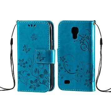 zoeview Funda Libro para Samsung Galaxy S4 Mini Carcasa para ...