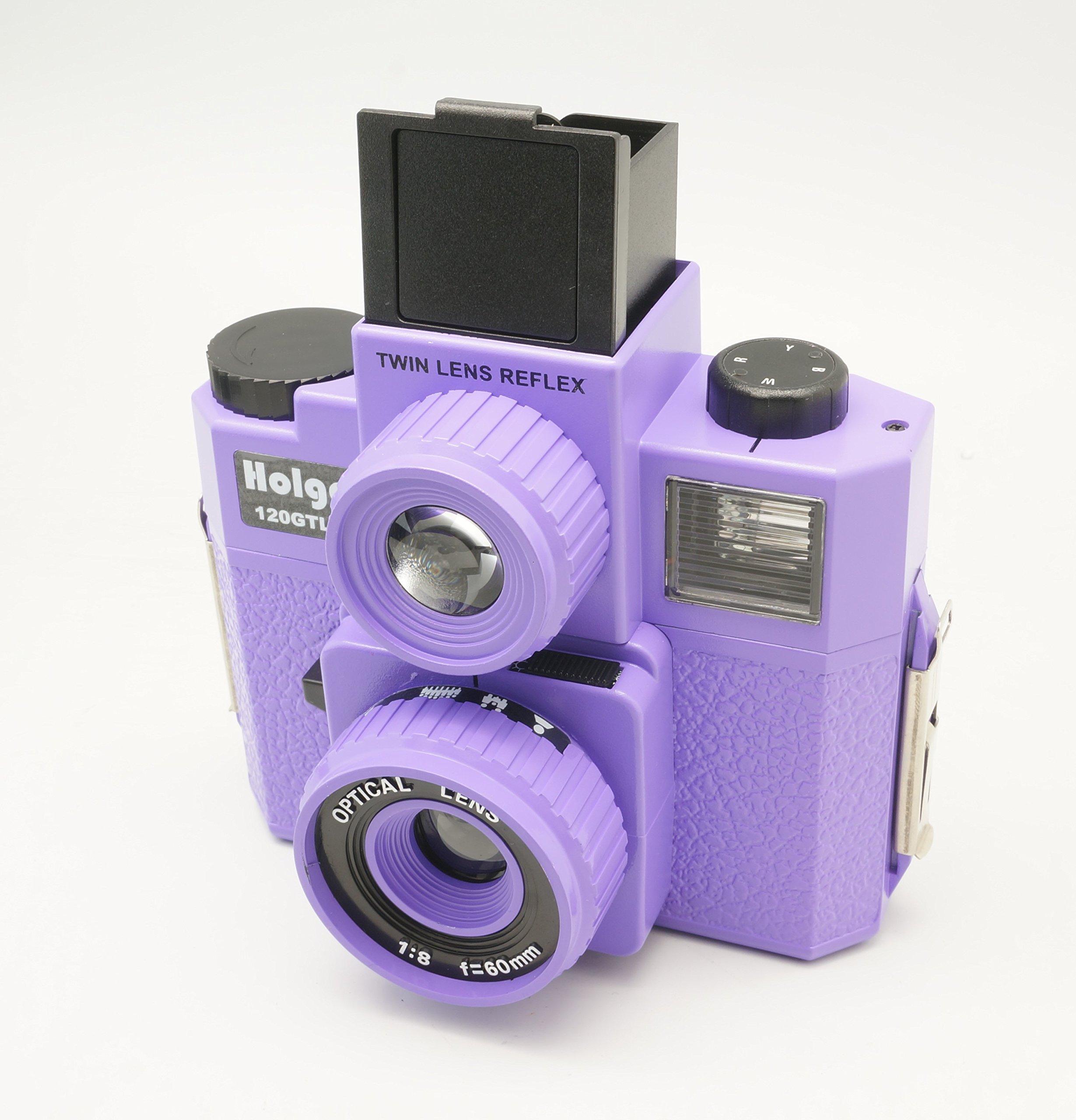 Holga 120GTLR Purple Medium Format 120 Film Camera Twin Lens Reflex (discontinued) by Holga