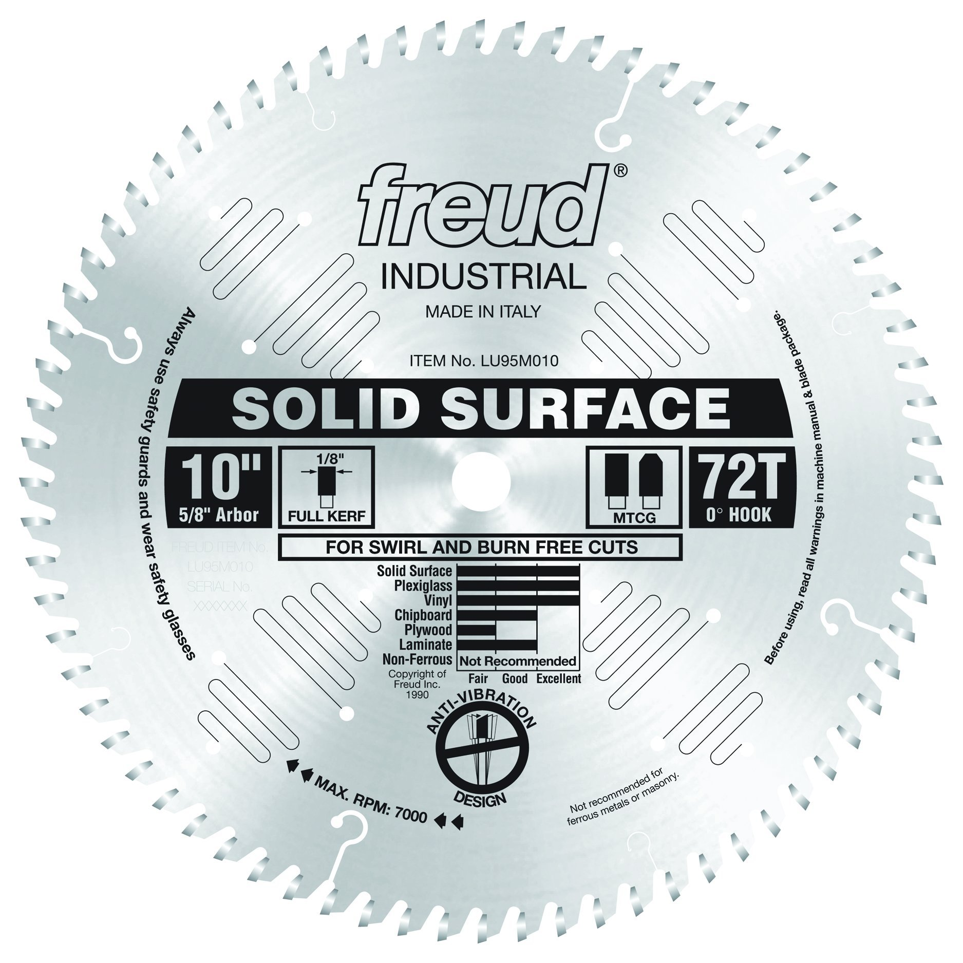 Freud LU95M010 10'' Solid Surface Blade by Freud