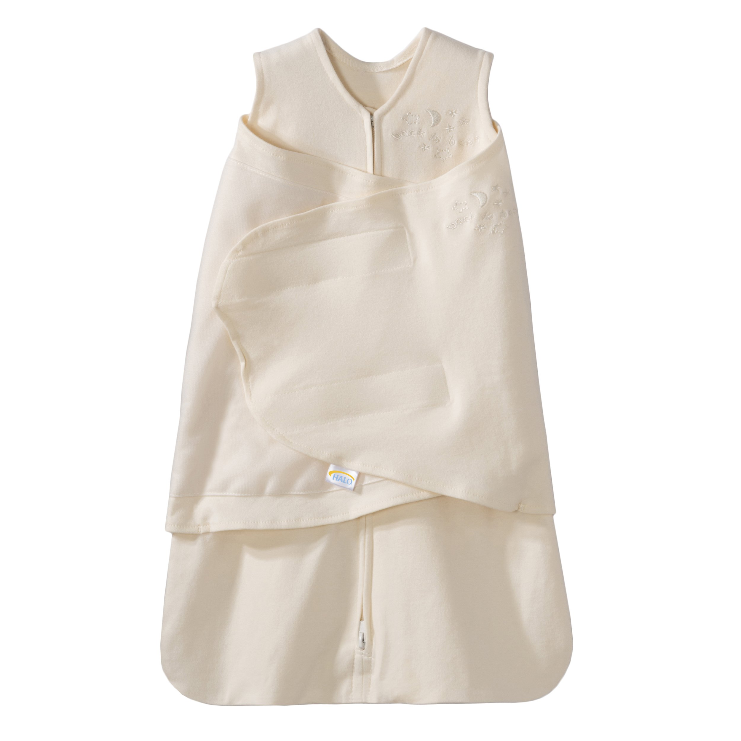 HALO Sleepsack 100% Cotton Swaddle, Cream, Small by Halo