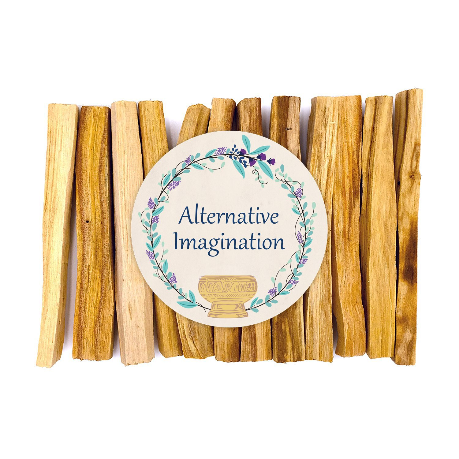 Alternative Imagination Premium Palo Santo Holy Wood Incense Sticks Purifying, Cleansing, Healing, Meditating, Stress Relief. 100% Natural Sustainable, Wild Harvested. (12)