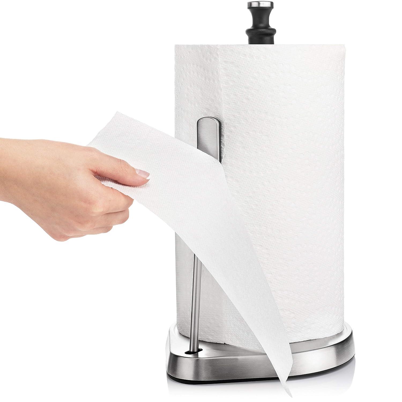 Amazon.com: FLYISI - Toallero de papel de pie de acero ...