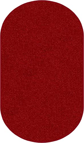 Koeckritz Oval 9 x12 Real Red 30 oz Durable Cut Pile Area Rug. Multiple Sizes and Shapes to Choose from.