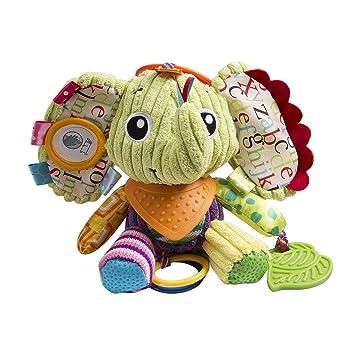 1bd352db119a Amazon.com   Baby Infant Pram Car Stroller Hanging Rattles Plush Toy Soft  Teether Chew Doll - Elephant   Baby