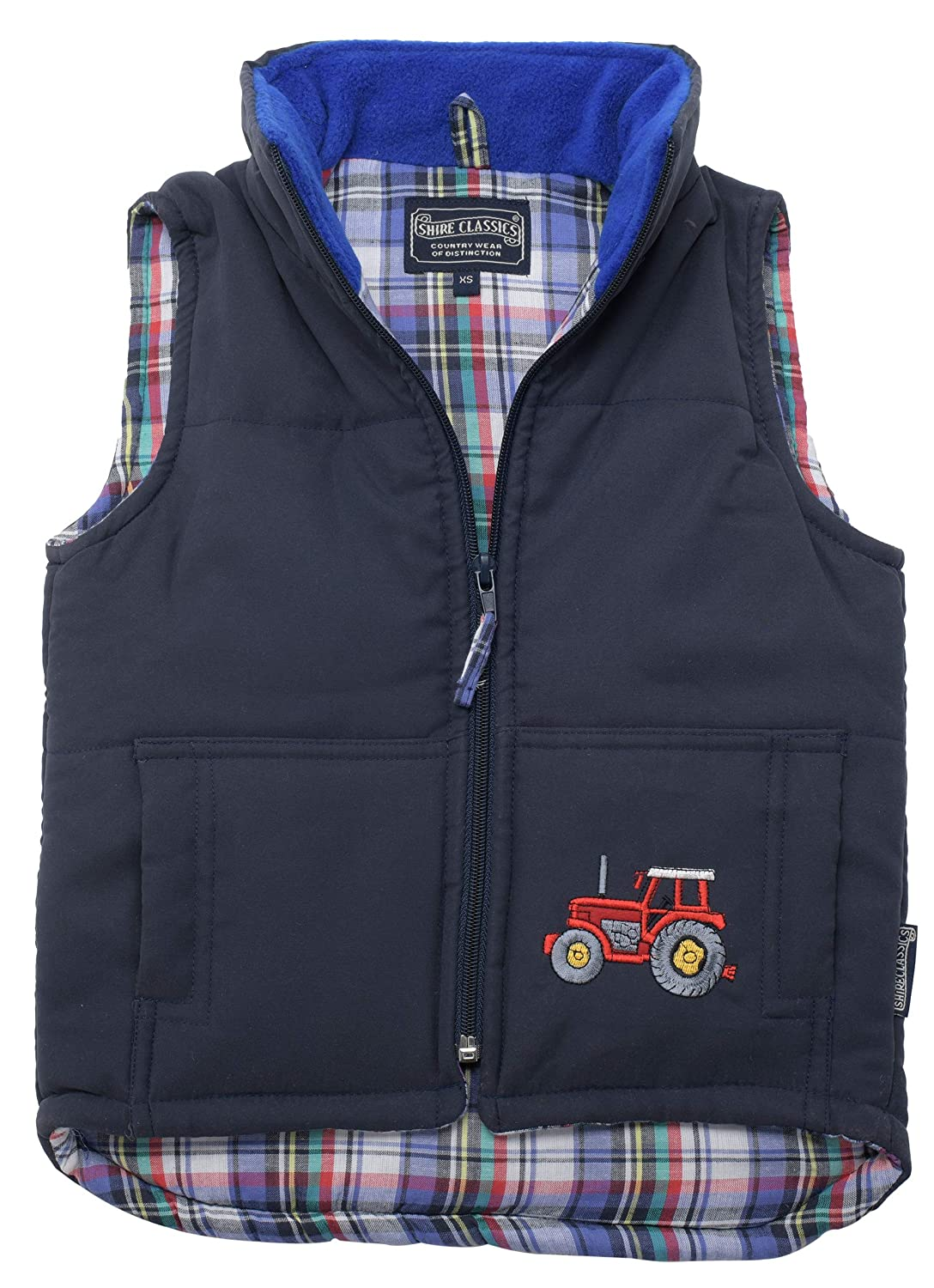 Lambland Childrens/Childs / Boy's Embroidered Tractor Gilet/Body Warmer Blue