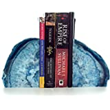 decorative bookends geode agate book ends for office dcor and home blue