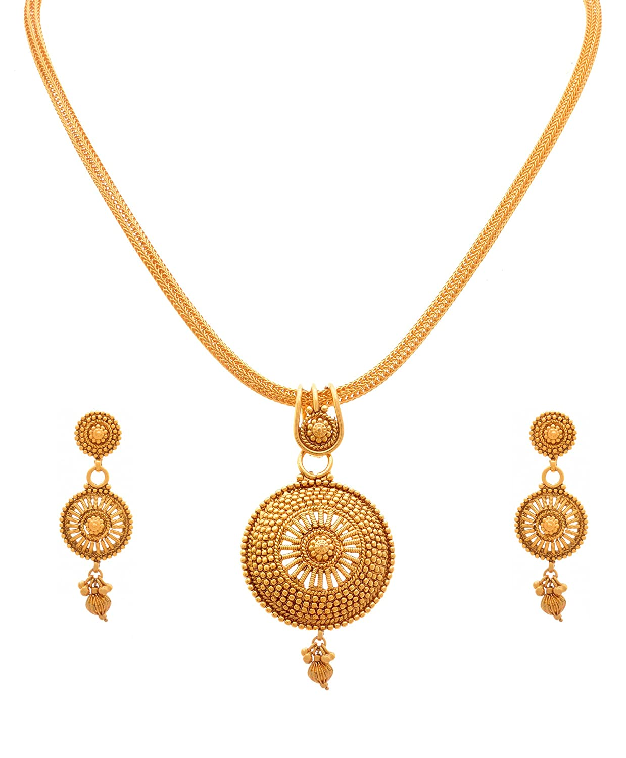 Gold Pendant With Earrings Designs - Best Earring 2017