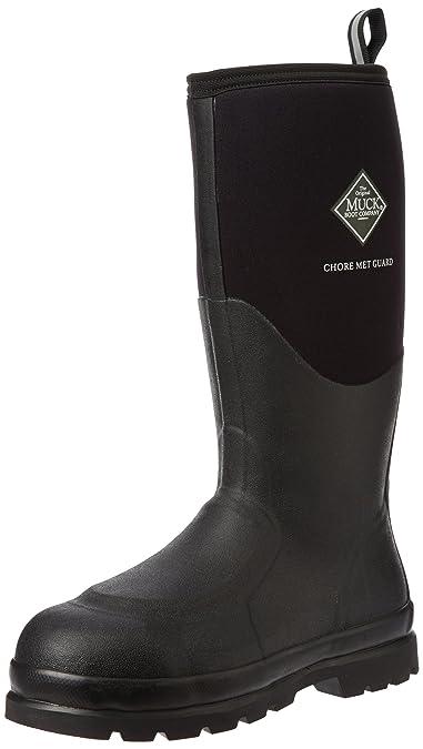 b0a386a72ca Muck Boot Chore Classic Tall Steel Toe Men's Rubber Work Boot W/ Metatarsal  Guard