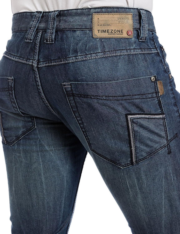 Timezone Men's Eduardotz 3918 Blue Ocean Wash Jeans: Amazon.co.uk: Clothing